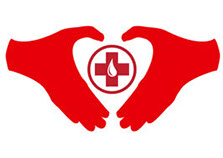 Blood donor hands logo